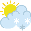 Cold, snowing, Snow, Frost, weather, winter, meteorology Lavender icon