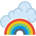 Rainbow, Rainbow Lines, Curve Lines, Concave Lines, Rainbows, signs, Rainbow Outline, weather Lavender icon