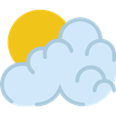 Cloudy, Clouds And Sun, Cloud, weather, sky, Sunny, meteorology Lavender icon
