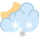 winter, weather, snowy, Frost, Snow, Cold, Moon Lavender icon