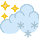 Moon, Snow, snowing, Stars, nature, starry, weather, Clouds, night Lavender icon