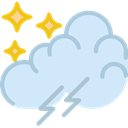 weather, meteorology, sky, Rain, rainy, Storm Lavender icon