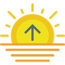 weather, nature, sunrise, dawn, Evening, sun Gold icon