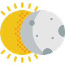space, partial, sun, Astral, Eclipses, Covering, weather, Eclipse, Partially, Moon Gainsboro icon