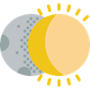 weather, space, Covering, partial, sun, Eclipse, Moon, Eclipses, Partially, Astral Khaki icon