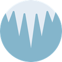 Ice, weather, winter, Cold, Icicle SkyBlue icon