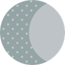 full moon, meteorology, weather, Astronomy, Moon Phase, Moon, nature DarkGray icon