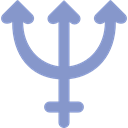 symbols, Astrological, signs, astrology, neptune MediumPurple icon