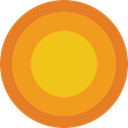astrology, sun, sign, signs, symbol Goldenrod icon