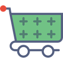 market, shopping, trolley, store, Shop, Cart DarkSeaGreen icon