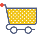 store, market, Shop, shopping, trolley, Cart Gold icon