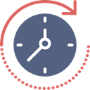 Forward, time, Time Passing, passing, Clock DimGray icon