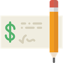 Bank, Business, payment, Check, Money Beige icon