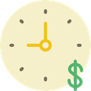 time, Business, Money, Clock, time is money BlanchedAlmond icon