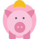 piggy bank, save, coin, Money, savings, funds Pink icon