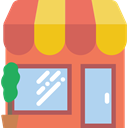 Business, store, food, Shop, commerce Coral icon