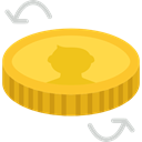 Business, Flip, Currency, Money, coin, Cash Gold icon