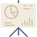 Business, statistics, Presentation, graphic, finances, chart, financial Beige icon