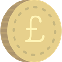 Business, Currency, Cash, pound, coin, Money Khaki icon