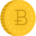 Currency, Money, coin, Business, Cash, Bitcoin Gold icon