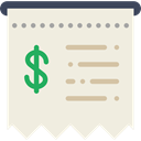 commerce, Ticket, receipt, invoice, Bill, Business, payment Beige icon
