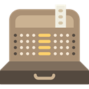 Supermarket, Commercial, machine, tools, Money, cashier, Business, commerce, tool RosyBrown icon