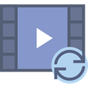 Multimedia, Play button, Multimedia Option, interface, movie, video player MediumPurple icon