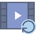 Play button, video player, Multimedia Option, movie, Multimedia, interface MediumPurple icon