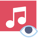 musical note, music player, Quaver, song, music, interface IndianRed icon