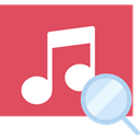 music, song, interface, music player, musical note, Quaver IndianRed icon