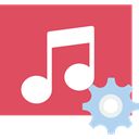 music, song, music player, interface, musical note, Quaver IndianRed icon