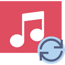 Quaver, musical note, music player, interface, song, music IndianRed icon