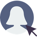 Avatar, interface, social media, profile, user, social network DimGray icon
