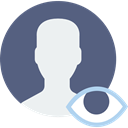 interface, social media, social network, user, profile, Avatar DimGray icon