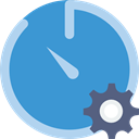 Wait, stopwatch, interface, timer, Tools And Utensils, time, Chronometer SteelBlue icon