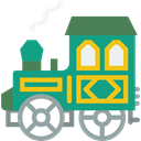 transport, Locomotive, Railroad, train DarkCyan icon