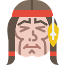 western, indian, Avatar, Native American, people, head PeachPuff icon
