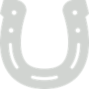 western, Horseshoe, horse, Good Luck, Ornamental LightGray icon