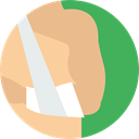 Body Parts, Anatomy, Bandage, Arm, medical BurlyWood icon