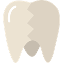 Broken, tooth, Caries, medical, Decay, Dentist LightGray icon