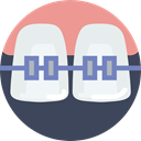 Braces, Teeth, mouth, dental, Dentist, medical DarkSlateGray icon