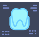 records, Dentist, dental, medical DarkSlateGray icon