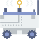 transport, science, vehicle, Automobile, Moon Rover WhiteSmoke icon