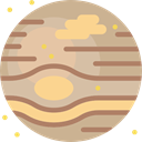 planet, Astronomy, science, Jupiter, solar system Tan icon