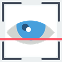 Eye, technology, scan, Protection, security WhiteSmoke icon