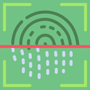 Fingerprint Scan, technology, Protection, scan, security DarkSeaGreen icon