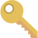 Access, pass, Passkey, password, Key, Door Key SandyBrown icon