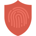 Fingerprint Outline, Protection, Fingerprints, interface, Fingerprint, security IndianRed icon