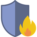 Firewall, Fire Prevention, Concrete, Protection, infrastructure MediumPurple icon