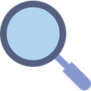 magnifying glass, Loupe, zoom, search, Tools And Utensils, detective LightBlue icon